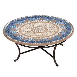 Caribbean Sea Round Single-Tiered Coffee Table