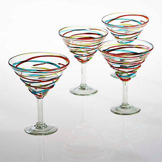 Margaritaville Swirl Martini Glasses, Set of Four