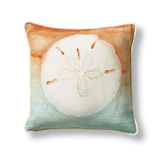 Miramar Hand-Painted Decorative Pillow