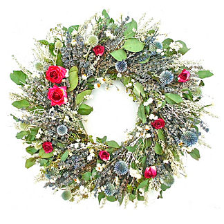Lavender Rose Dried Garden Wreath