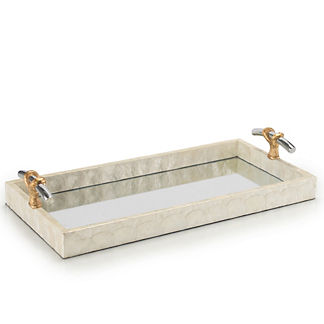 Capiz and Mirror Vanity Tray