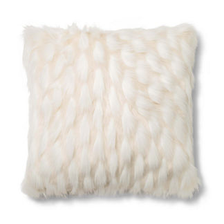 Le Blanc Fur Decorative Pillow