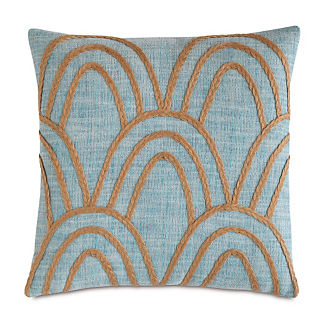 Badu Rope Applique Decorative Lumbar Pillow