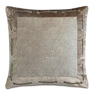 Ezra Smoke Mitered Decorative Pillow