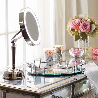 Cordless LED Height Adjustable Rechargeable Vanity Mirror