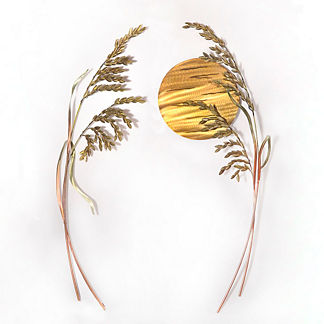 Sea Oats at Sunrise Wall Art by Copper Art