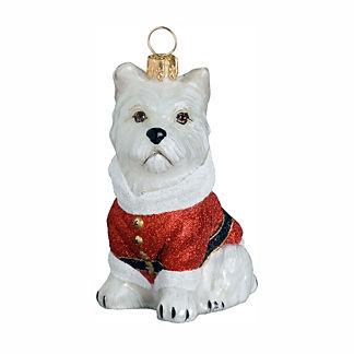 Diva Dog Westie Santa Paws Ornament