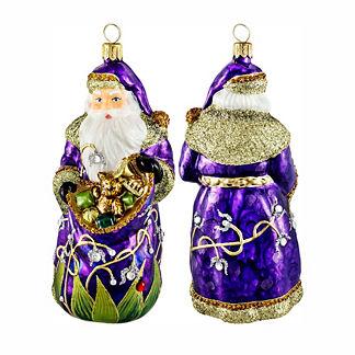 Glitterazzi Lady Bug Santa Ornament