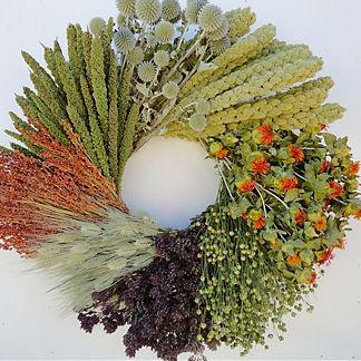 Indian Summer Dried Wheel Wreath