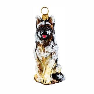 Snowy German Shepherd Ornament