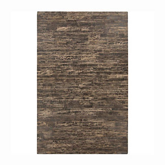 Brasada Hair on Hide Area Rug in Black/Taupe