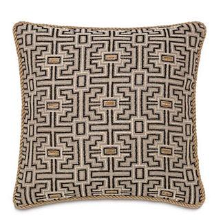 Maori Stone Decorative Pillow with Cording