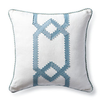Magnolia Filly White Decorative Pillow with Cording