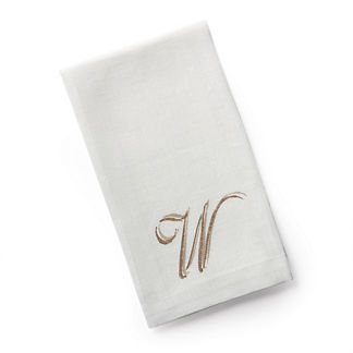Estate Monogrammed Guest Towels by Dransfield & Ross