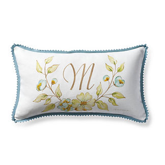 Magnolia Hand-Painted Decorative Pillow