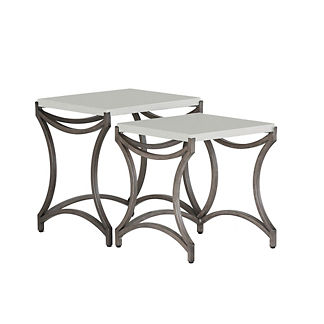 Caroline Iron Nest Tables by Summer Classics, Set of Two