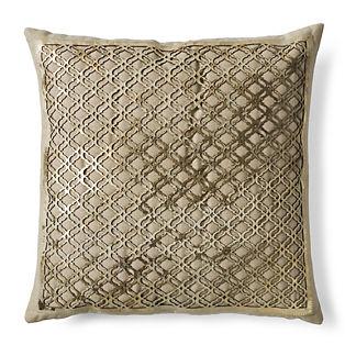 Oni Laser Cut Hide Decorative Pillow