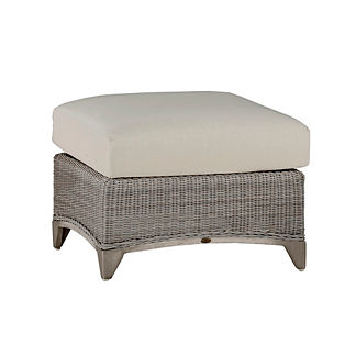 Astoria Wicker Ottoman with Cushion by Summer Classics