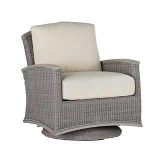 Astoria Wicker Swivel Glider with Cushions