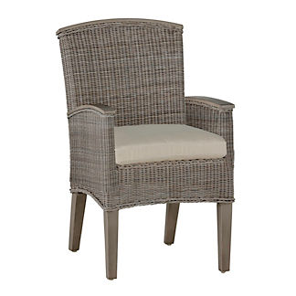 Astoria Wicker Arm Chair with Cushion by Summer Classics