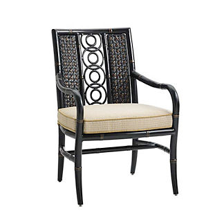 Marimba Wicker Dining Chair with Cushions by Tommy Bahama