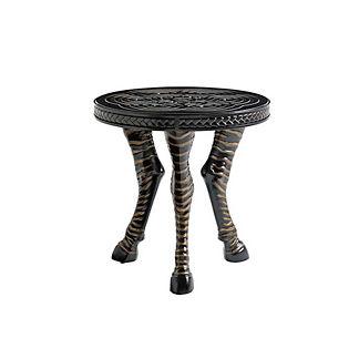 Marimba Round Zebra Accent Table by Tommy Bahama