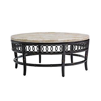 Marimba Round Crystal Stone Cocktail Table by Tommy Bahama