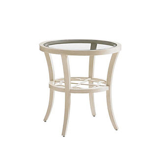 Misty Garden Round Glass End Table by Tommy Bahama