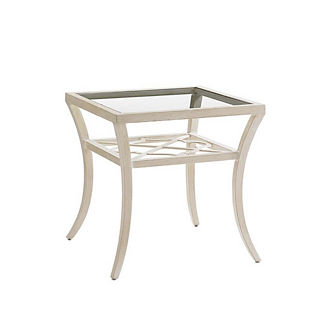 Misty Garden Square Glass End Table by Tommy Bahama