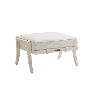 Misty Garden Ottoman with Cushion by Tommy Bahama