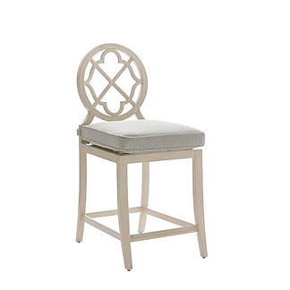Misty Garden Counter Stool with Cushion by Tommy Bahama