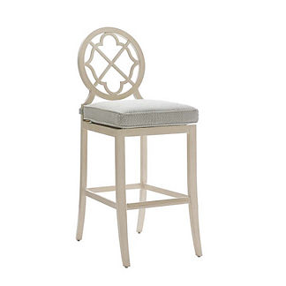 Misty Garden Bar Stool with Cushion by Tommy Bahama