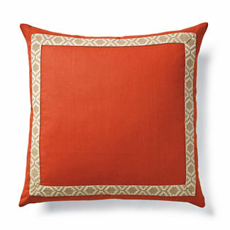 Camden Tape on Linen Decorative Pillow