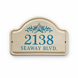 Starfish Address Plaque