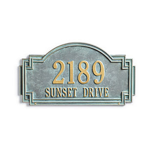 Willow 2-line Standard Address Plaque