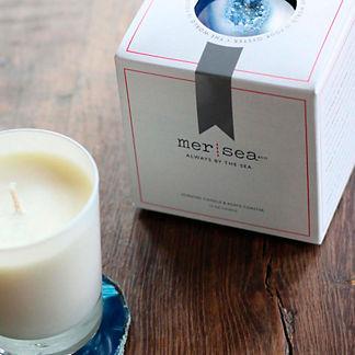 Mer-Sea & Co. Candle & Agate Coaster