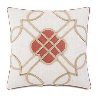 Ledger Mini Brush Fringe Decorative Pillow
