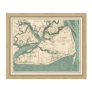 Hilton Head Island Framed Map