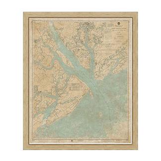 Port Royal Sound Framed Map
