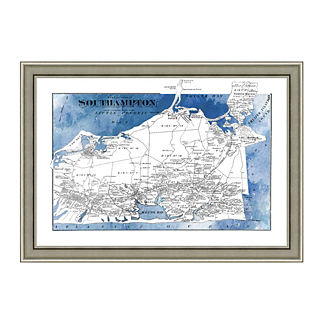 South Hampton Framed Map