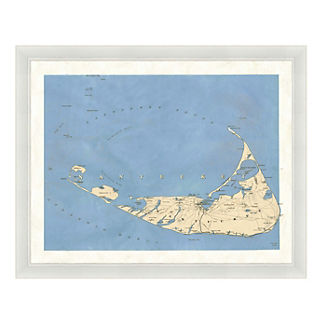 Nantucket Framed Map