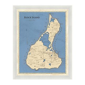 Block Island Framed Map