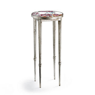 Mosaic Roses Accent Table