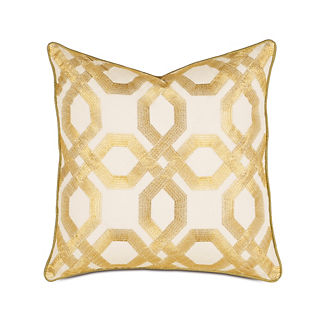 Midas Gold Geo Lattice Decorative Pillow