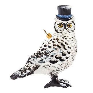 Glitterazzi Wintery Owl Ornament