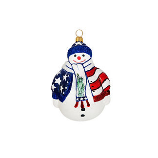 Land of the Free Santa Ornament