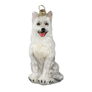 German Shepherd White Ornament