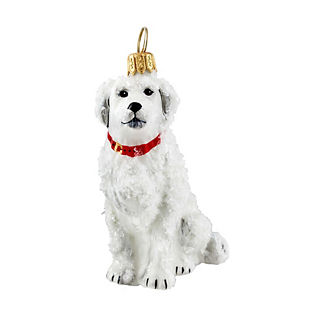 Snowy Great Pyrenees Ornament