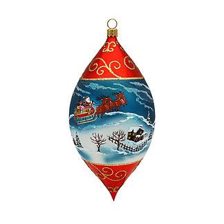 Santa and His Sleigh Drop Ornament