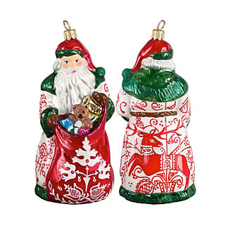 Bratislava Folk Art Santa Ornament